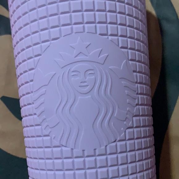 Starbucks Winter 2021 Matte Lilac Grid tumbler cup